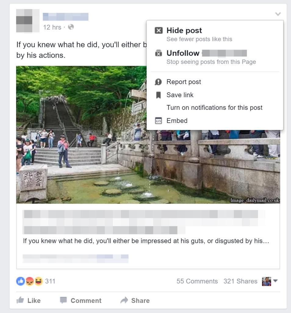 facebookhidepost